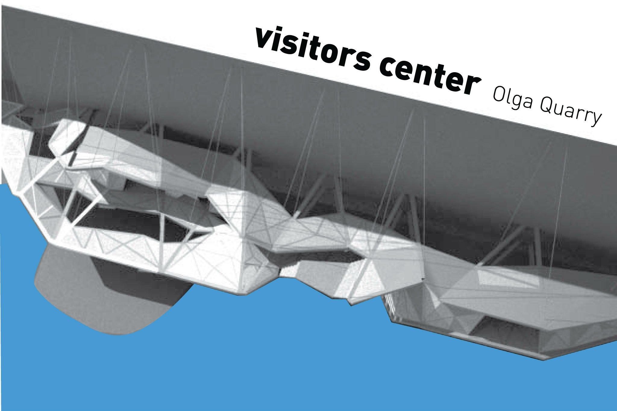 הצעה לתכנון מרכז מבקרים, מחצבת אולגה