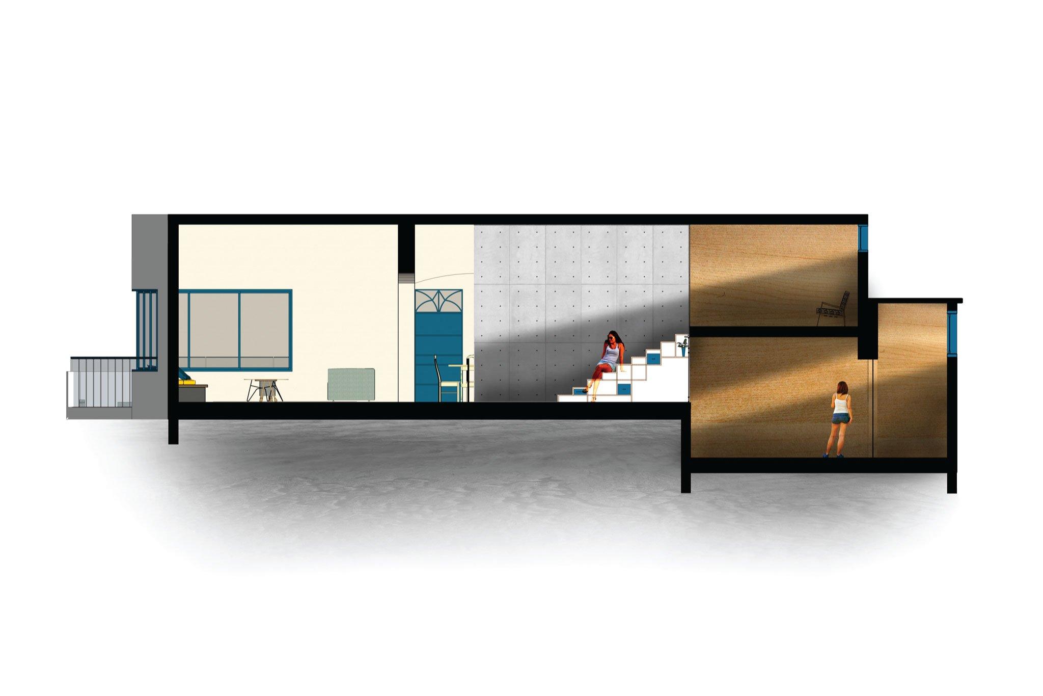 חתך אדריכלי- הבית ביפו