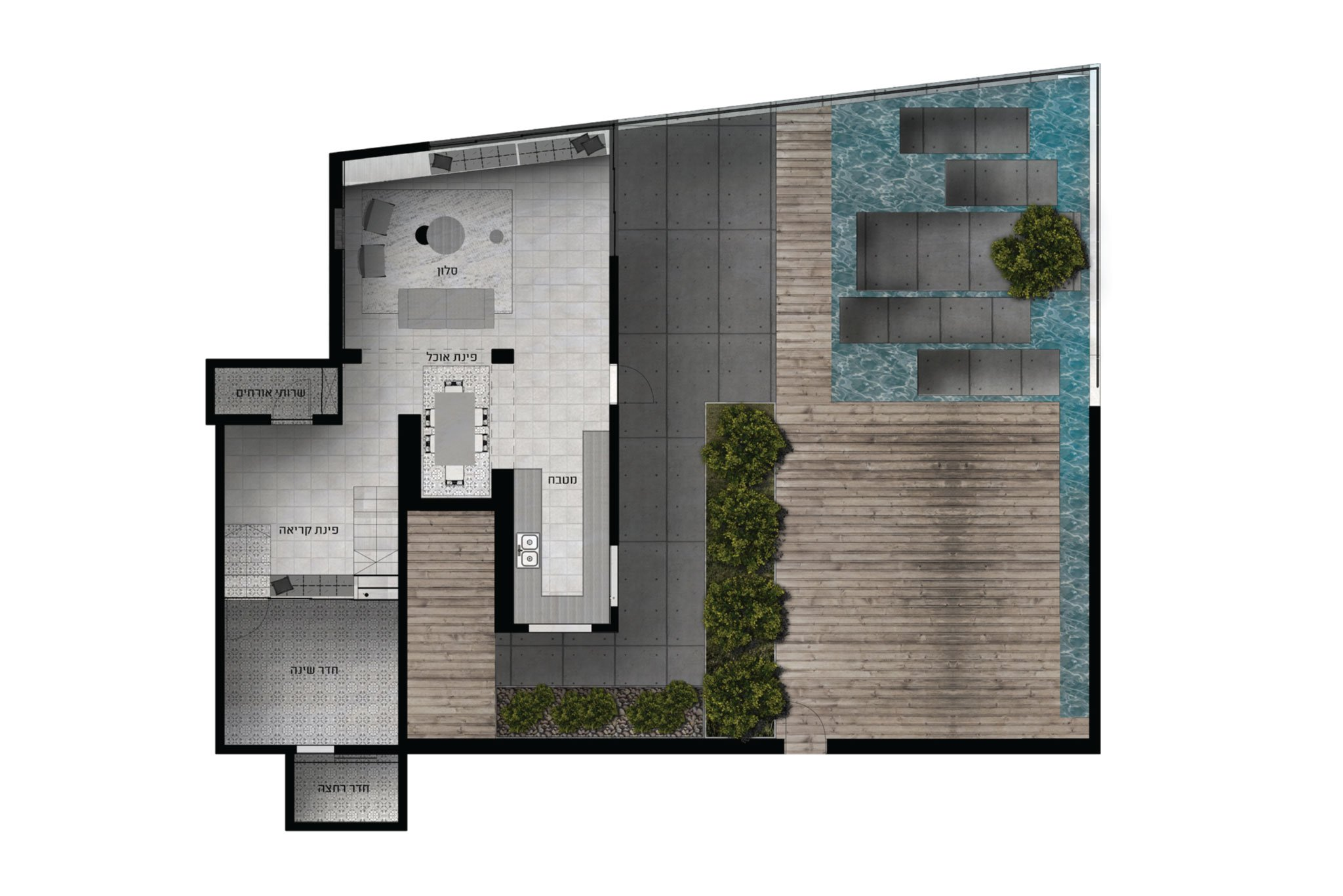 תוכנית אדריכלית בית על הים