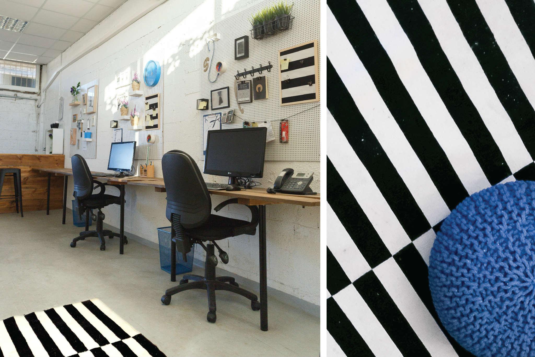 שחור לבן כחול עיצוב לופט