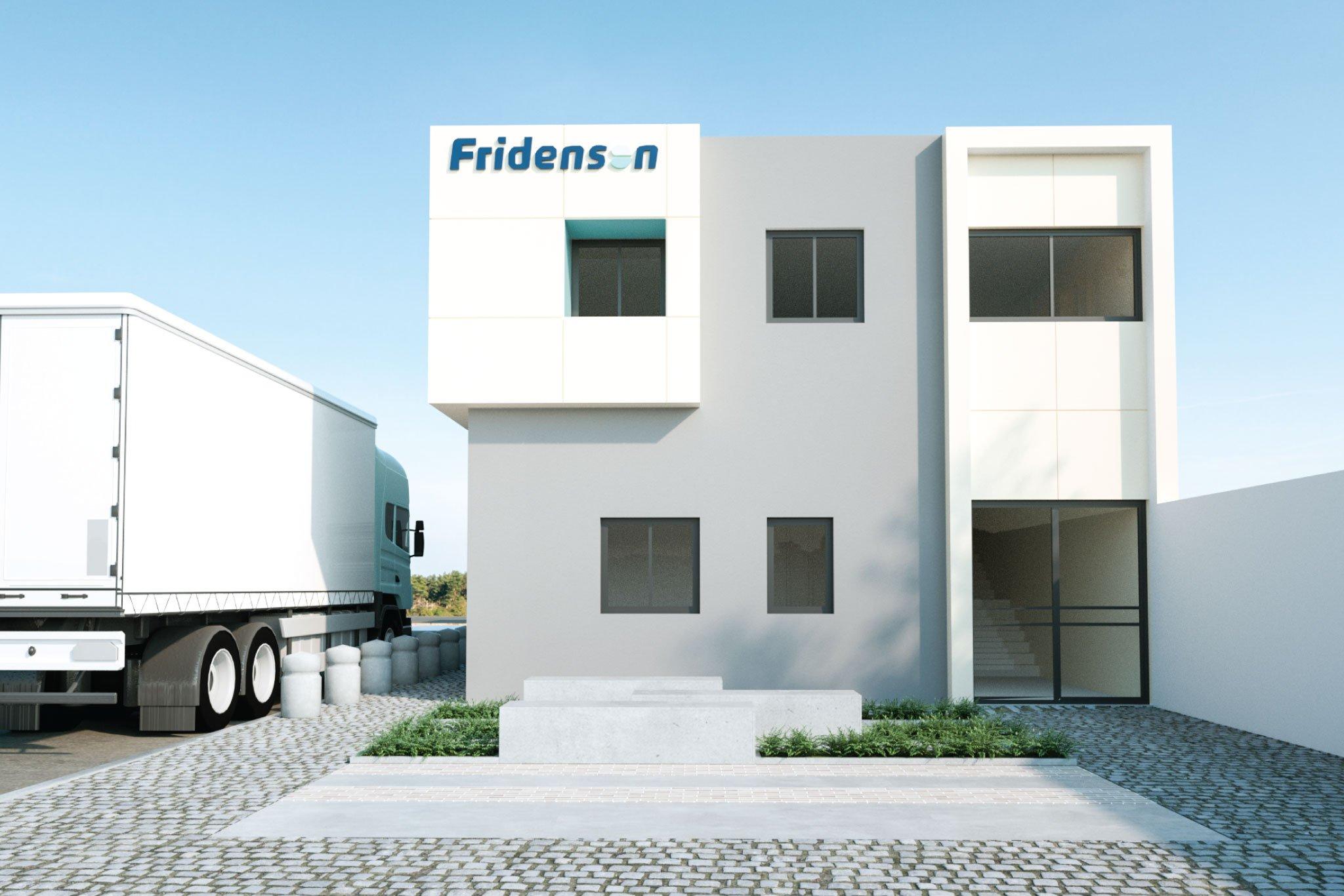 תכנון מבנה משרדים- מבט אל החזית הראשית