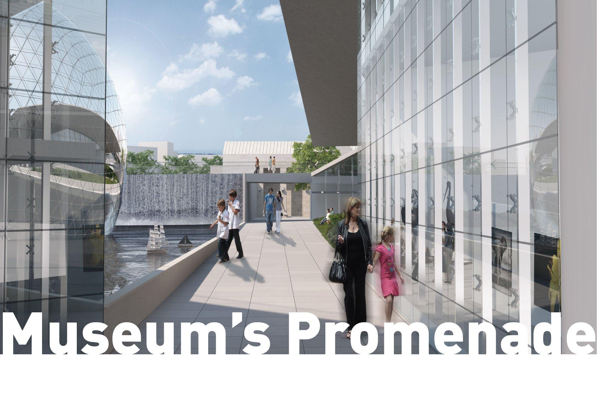 מבט אל טיילת המוזיאונים