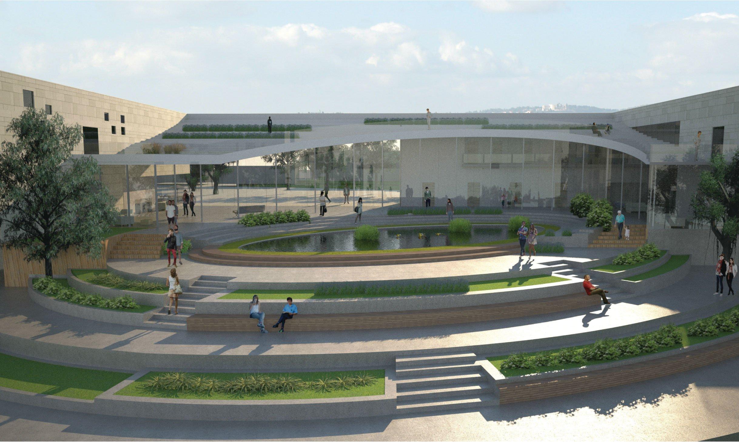 גן פתוח המשקיף אל הרי ירושלים, קונסרבטוריון, מבשרת ציון