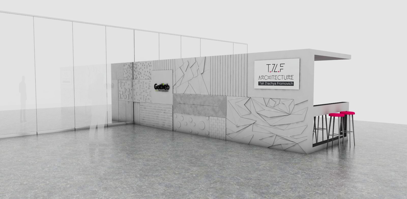 תכנון ביתן לתערוכה